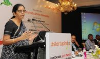 The Minister of State for Commerce & Industry (Independent Charge), Smt. Nirmala Sitharaman delivering the inaugural address at the Start Up India States' conference, in New Delhi on July 23, 2016.