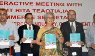 The Commerce Secretary, Ms. Rita A. Teaotia releasing the EEPC India Directory on Medical Device, Surgical Equipments and Pharma Machinery at an interactive session, organised by the EEPC India, ASSOCHAM, Bengal Chamber of Commerce and Industry and FIEO, in Kolkata on August 20, 2016.
