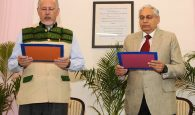 Prof. David R. Syiemlieh taking the Oath of Office and Secrecy as the Chairman, Union Public Service Commission, at a function, in New Delhi on April 03, 2017.
