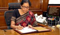Smt. Nirmala Sitharaman taking charge as the Union Minister for Defence, in New Delhi on September 07, 2017.